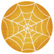 Spookalicious- Orange Spiderweb Tag