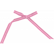Spookalicious- Pink Gingham Bow