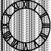 Clock Makers Brush- Numbers Set 06