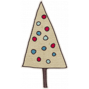 Nutcracker December BT Mini Kit- Tan Christmas Tree Sticker With Ornaments
