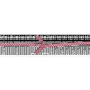 Nutcracker December BT Mini Kit- Red & White Chevron Knoted Bow