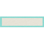 Sweater Weather- Blue Bordered Blank Tag