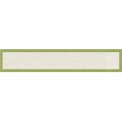 Sweater Weather- Green Bordered Blank Tag