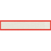 Sweater Weather- Red Bordered Blank Tag