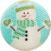 Sweater Weather- Fabric Button- Snowman