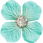 Sweater Weather- Blue Flower With Diamond