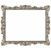 Spookalicious- Vintage Ornate Paper Frame
