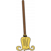 Spookalicious- Witches Broom Sticker