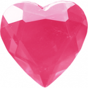 Spookalicious- Pink Heart Gem