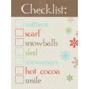 Sweater Weather- Journal Card- Checklist