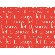 Sweater Weather- Journal Tag- Let It Snow