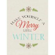 Sweater Weather- Journal Card- Merry Little Winter