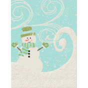 Sweater Weather- Journal Card- Snowman