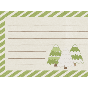 Sweater Weather- Journal Card- Snow Trees
