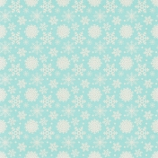 Sweater Weather Papers- Blue With White Snowflakes