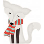 Sweater Weather- Snow Fox Sticker