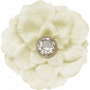 Sweater Weather- Large White Flower With Diamond
