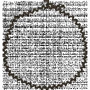 Sweater Weather- Black Stitched Circle