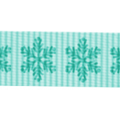 Sweater Weather- Blue Snowflake Ribbon Straight