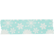 Sweater Weather- Bllue Snowflake Tape