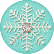 Sweater Weather- Blue Snowflake Tag