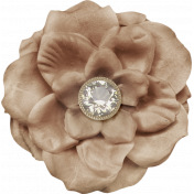 Sweater Weather- Large Brown Flower With Diamond
