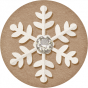 Sweater Weather- Brown Snowflake Tag