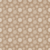 Sweater Weather Papers- Brown With White Snowflake