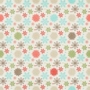 Sweater Weather Papers- Colorful Snowflakes