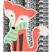 Sweater Weather- Orange Fox Sticker