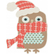 Sweater Weather- Owl With Scarf Sticker