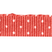 Sweater Weather- Salmon Polka Dot Ribbon