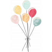 Birthday Wishes - Balloon Cluster