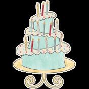 Birthday Wishes - Birthday Cake Sticker