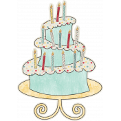 Birthday Wishes- Birthday Cake Sticker