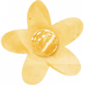 Birthday Wishes- Yellow Paper Flower