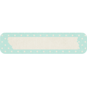 Birthday Wishes- Blue Polka Dot Tag