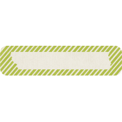 Birthday Wishes- Green Striped Tag
