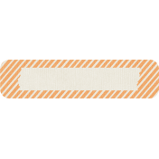 Birthday Wishes- Orange Striped Tag