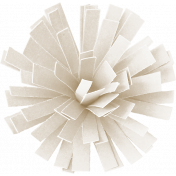 Birthday Wishes- White Frilled Paper Flower