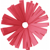 Birthday Wishes- Red Frilled Paper Flower