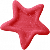 Birthday Wishes- Red Glitter Star