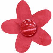 Birthday Wishes- Red Paper Flower