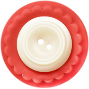 Birthday Wishes- Red and White Button