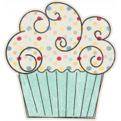 Birthday Wishes- Blue Cupcake