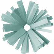 Birthday Wishes- Blue Frilled Paper Flower