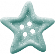 Birthday Wishes- Blue Glitter Star Button