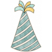 Birthday Wishes- Blue Party Hat Sticker
