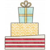 Birthday Wishes- Stacked Presents Sticker
