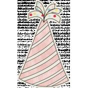 Birthday Wishes- Pink Party Hat Sticker